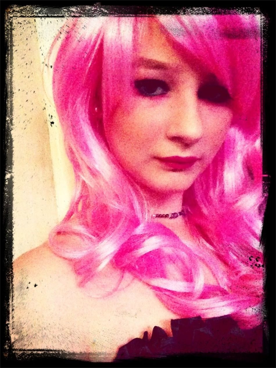Pink Wig Pink Make-Up Me Cute♡