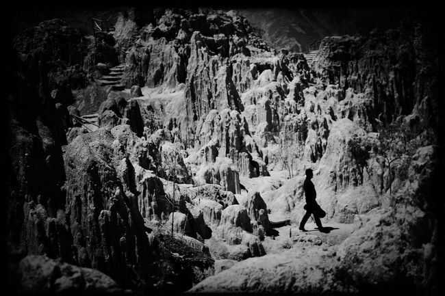 Scenics Beauty In Nature Rock - Object Geology Travel Physical Geography Exploration Natural Landmark Rock Formation Nature Bolivia Blackandwhite Light And Shadow Monochrome EyeEm Best Shots - Black + White EyeEm Best Edits
