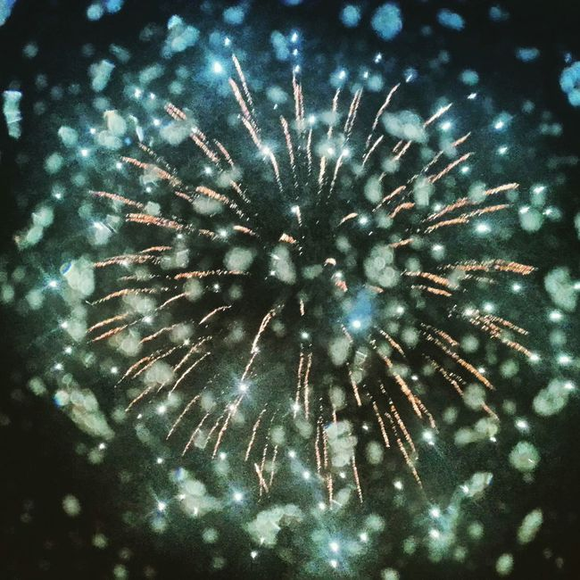 Rain Drops Fireworks County Fair Summer Nights Awesome Shot