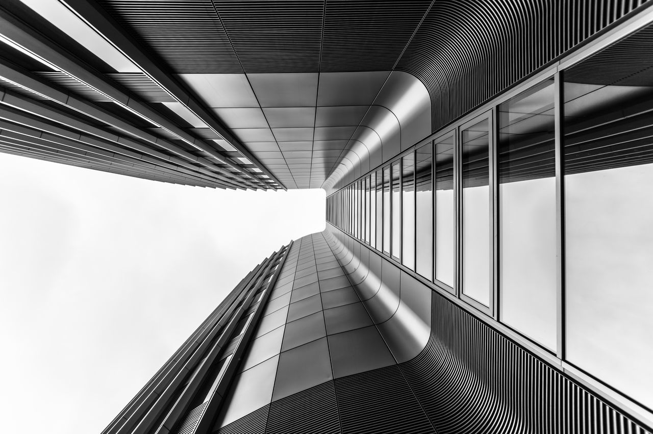 Architecture Architecture_collection Black & White Black And White Building Exterior Built Structure City Day Directly Below EyeEm Best Edits EyeEm Gallery EyeEmBestPics Futuristic Low Angle View Modern Modern Architecture No People Outdoors Reflection Sky Skyscraper The Way Forward Travel Destinations Windows
