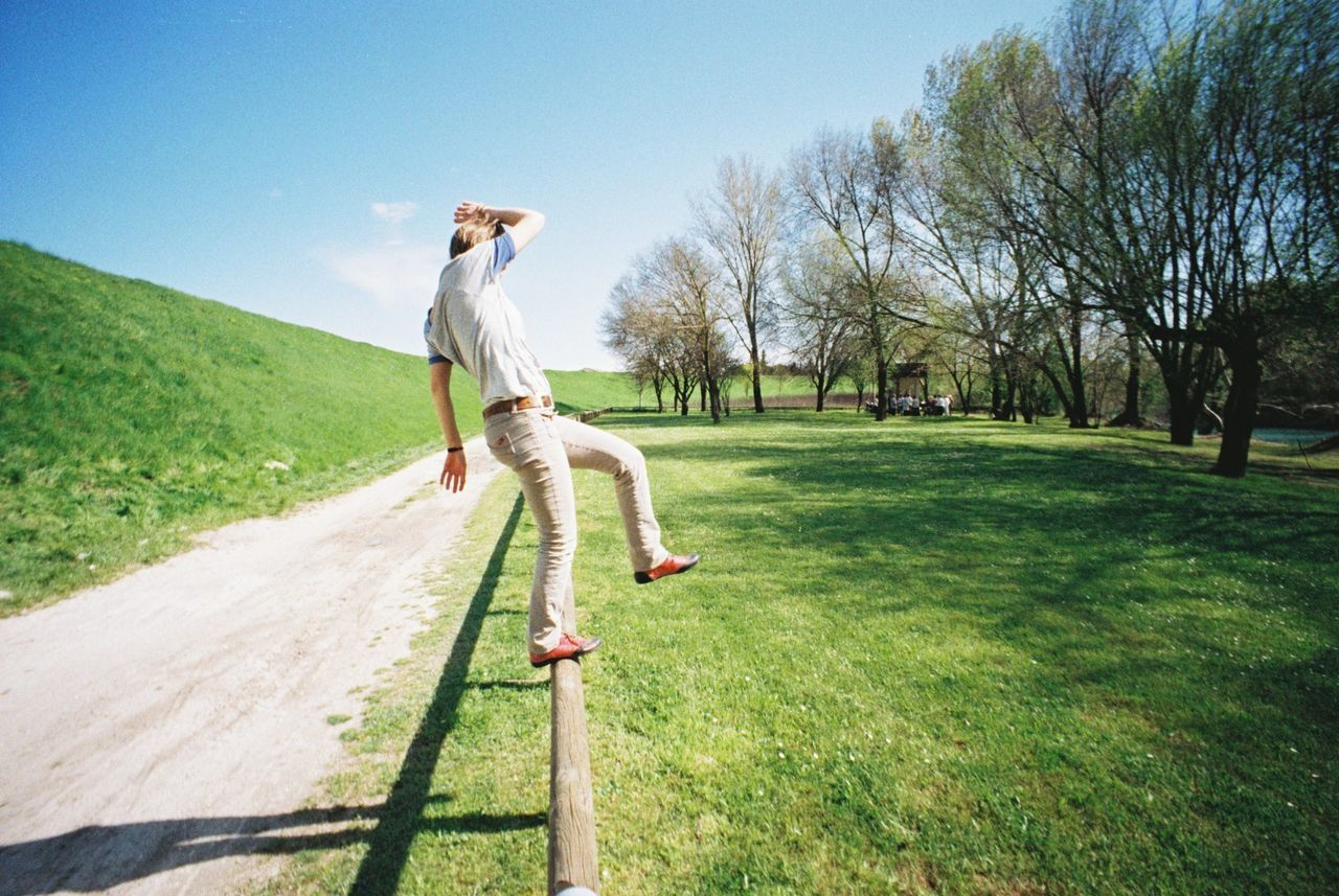 Beautiful stock photos of meadow, Balance, Day, Dirt Road, Full Length