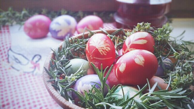 Eggs... Easter Mom's Cooking Home Tradition Holiday Taking Photos Check This Out Herbs Interesting