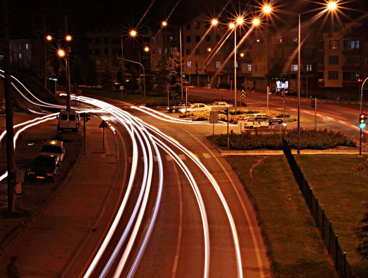 Scenic View Of Road At Night