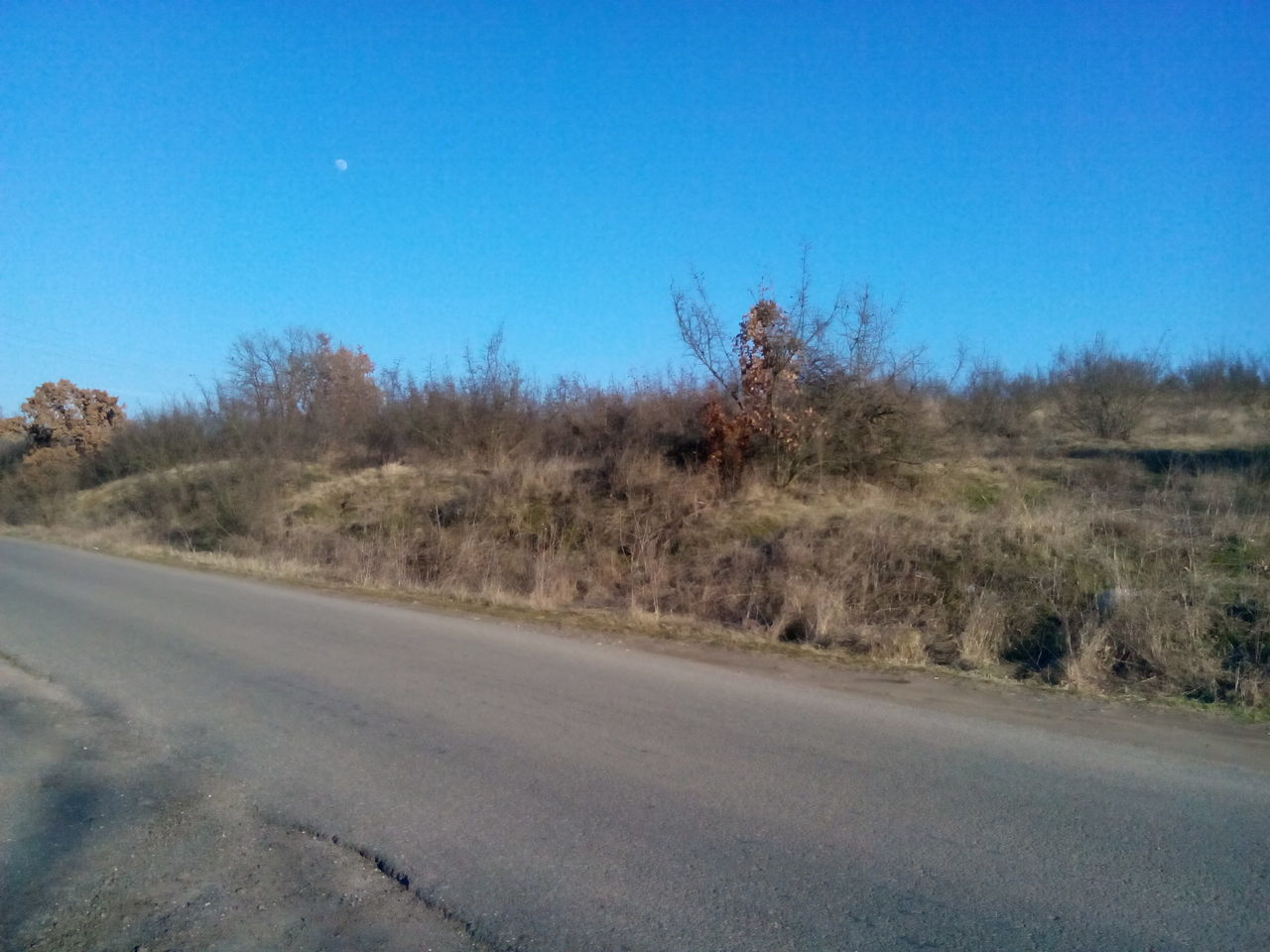 road, blue, the way forward, clear sky, nature, no people, transportation, landscape, day, outdoors, sky, grass, tree