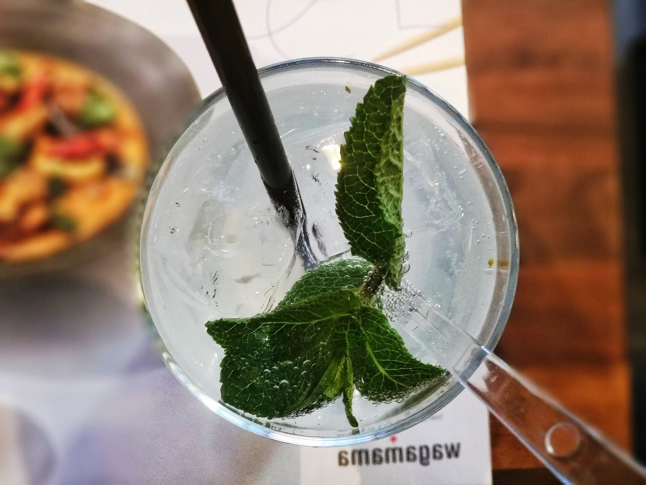 food and drink, freshness, drink, indoors, close-up, no people, refreshment, mint leaf - culinary, healthy eating, leaf, green color, drinking glass, focus on foreground, drinking straw, food, mojito, day