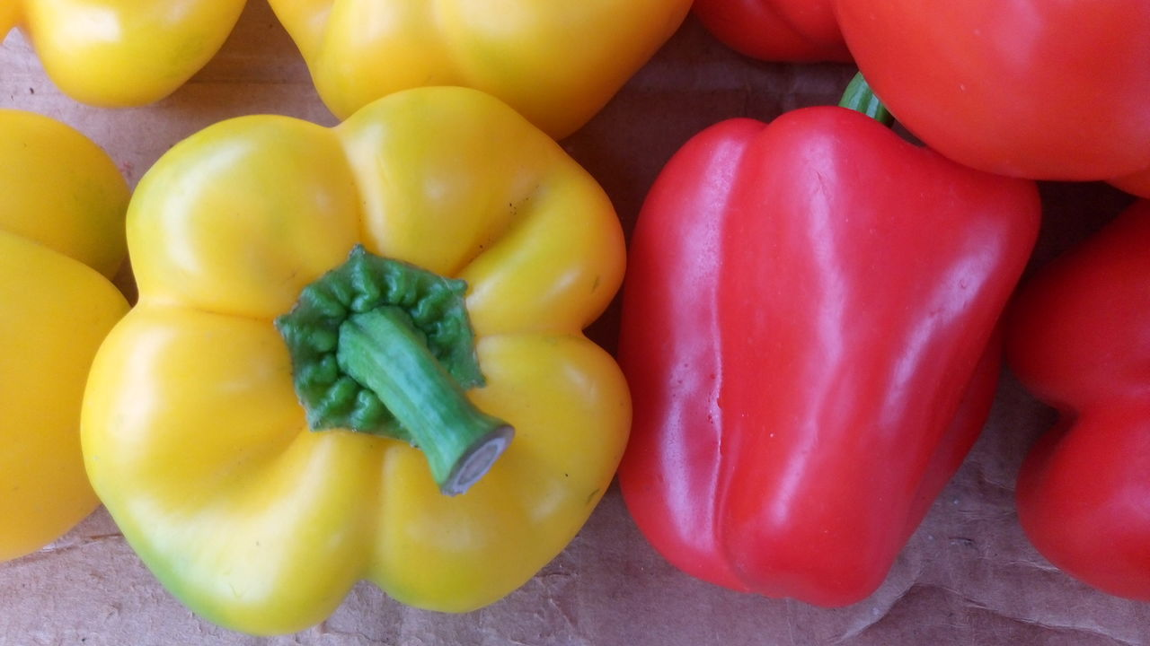 Abundance Baby Corn Backgrounds Bell Pepper Choice Close-up Food For Sale Freshness Full Frame Heap Large Group Of Objects Market Market Market Stall Mushrooms Pepper Red Red Bell Pepper Retail  Still Life Tomato Variation Vegetable Yellow Bell Pepper