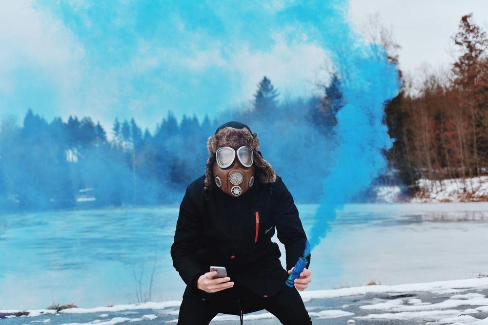 Selfportrait Gorillapod Mysmokeproject Gasmaskonface Gas Mask Its Cold Outside