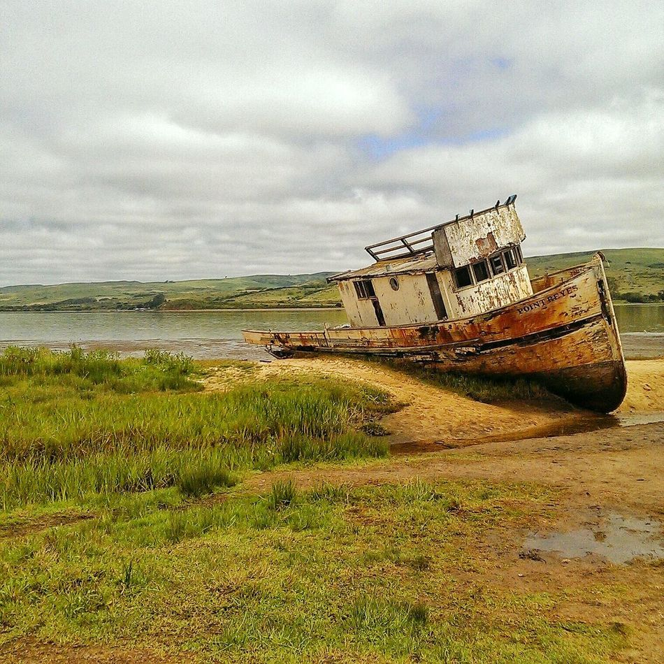 Outdoors Shipwreck Abandoned Point Reyes National Seashore Damaged Beauty In Nature Close-up