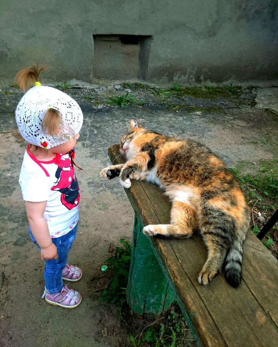 Миланка и кот First Eyeem Photo