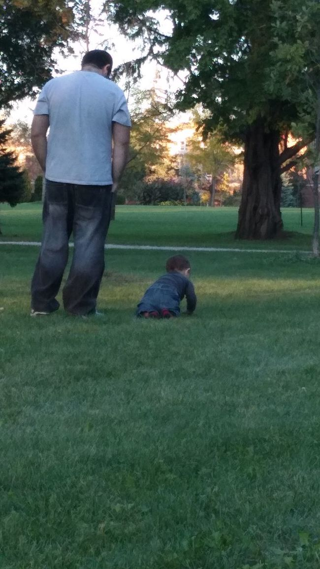 Fatherhood Moments Park - Man Made Space Park Growth Daddysboy Dad Daddy And Son Daddy Time Family Time Love Bonding Time Windsor Ontario Dadslife Parental Love Parent&Child Raising Children Sunset Trees Sky Sunset Trees