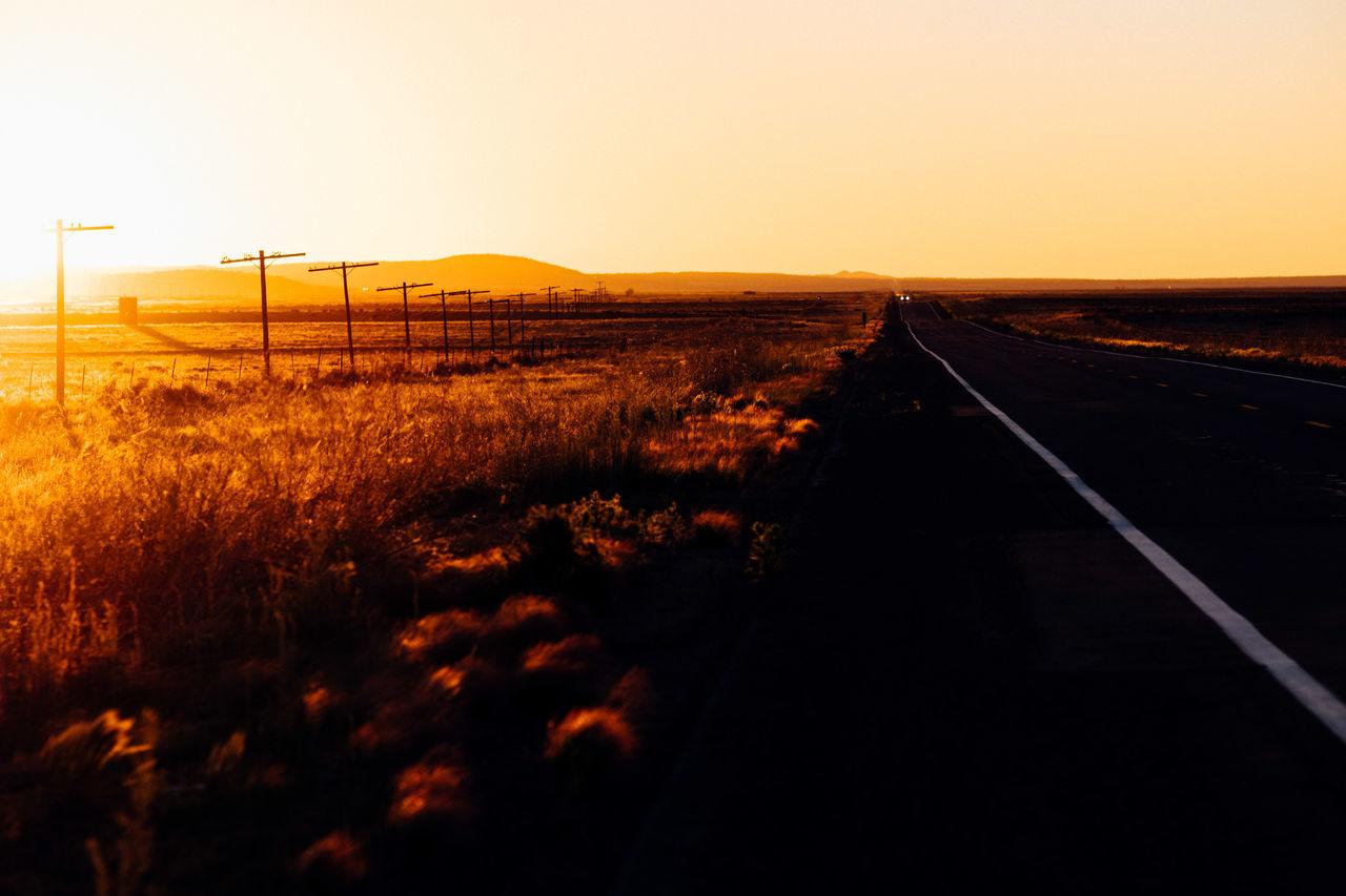 Beautiful stock photos of sunset, Arizona City, Connection, Diminishing Perspective, Empty Road