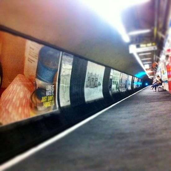 A quiet platform on London Underground is rarity at best unless you have time and patience. London_only Londonpop London Londoncity Lovelondon Britain England Uk Europe Tube TransportForLondon Train ILoveLondon Underground Transport Loveit