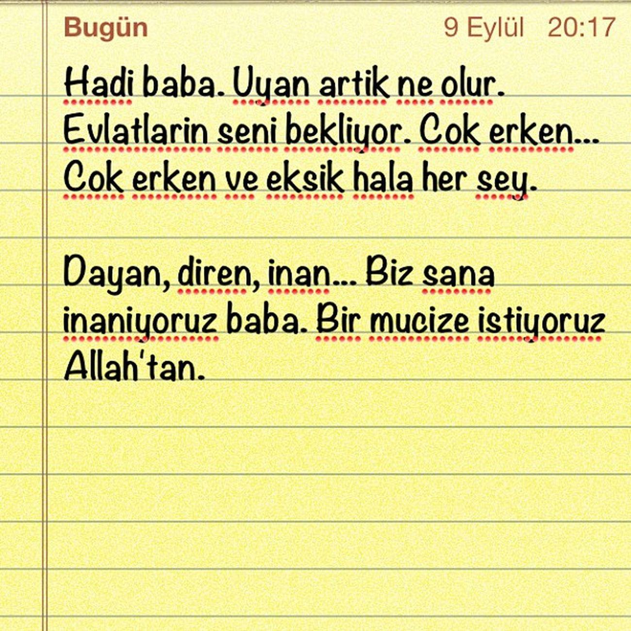 Babam.... Kendimenot Istanbul Acibadem Hastane ailehastanesi