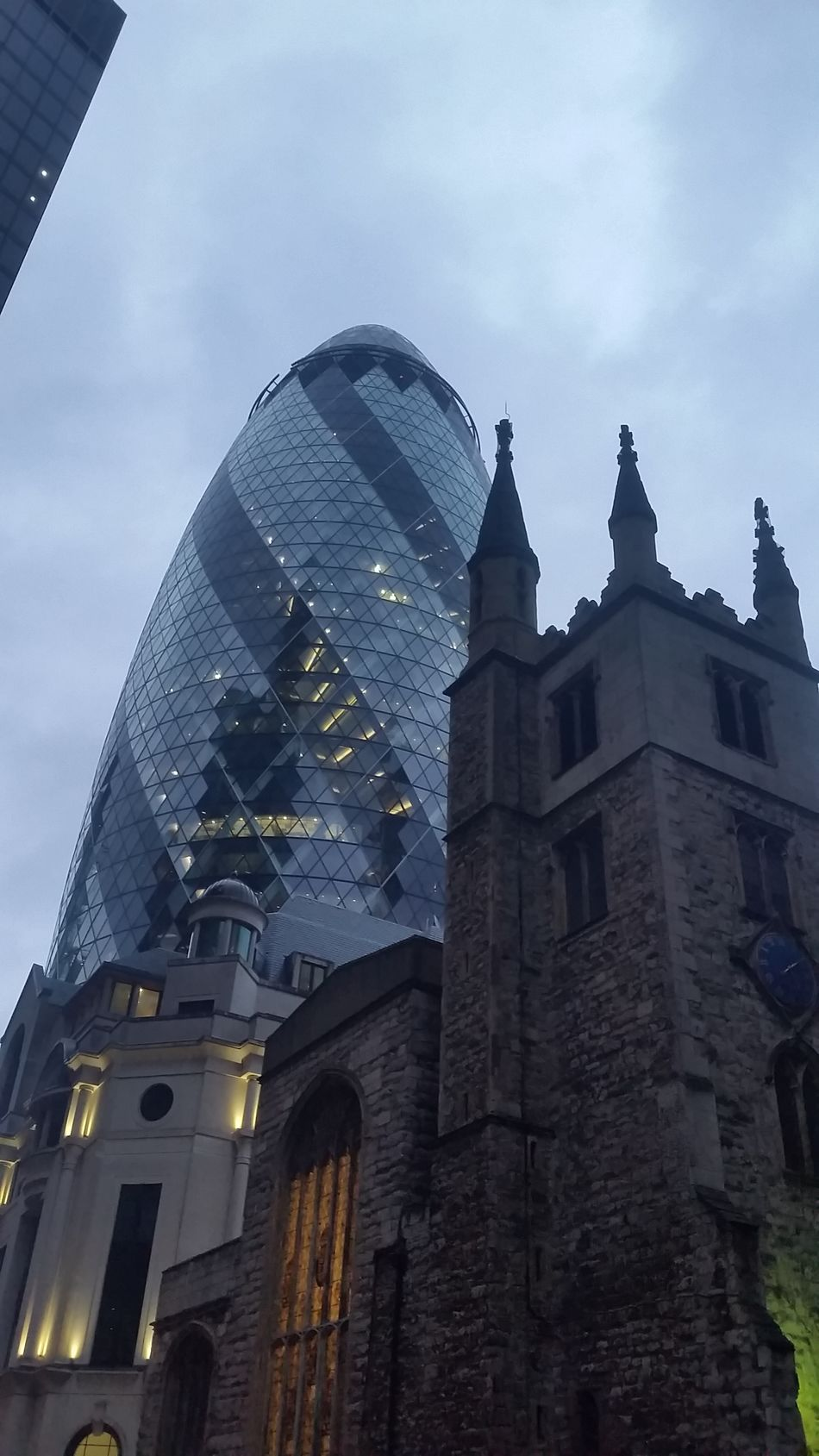 Architecture Modern Modern And Old Gherkin Tower LONDON❤ Built Structure Outdoors