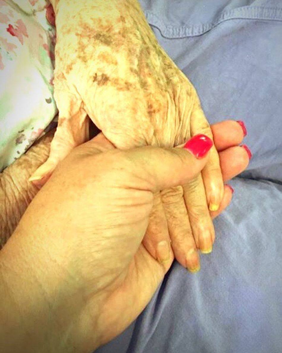Holding Hands Young Hands And Old Hands Aged Hands Compassion servanthood Tenderness Age Spots On Hands grandmother granddaughter holding hands Oklahoma Care Facility For The Aged People Together