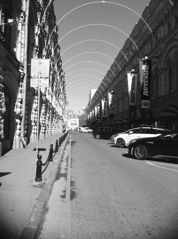 Building Exterior Built Structure Car City Day Great Day  Monochrome Moscow No People Outdoors Street The Way Forward Transportation Walking Nice travel to Moscow 🚶