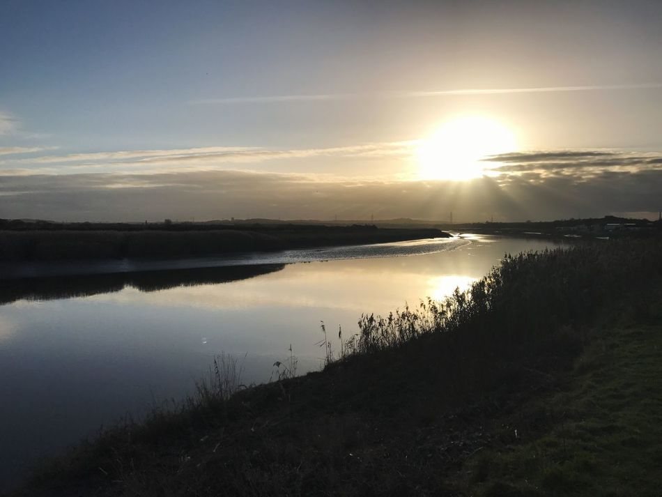River Mersey Water Nature Sky Sunset home
