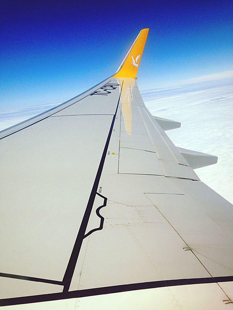 Hello World Enjoying Life Sky On The Plane ✈ Travelling