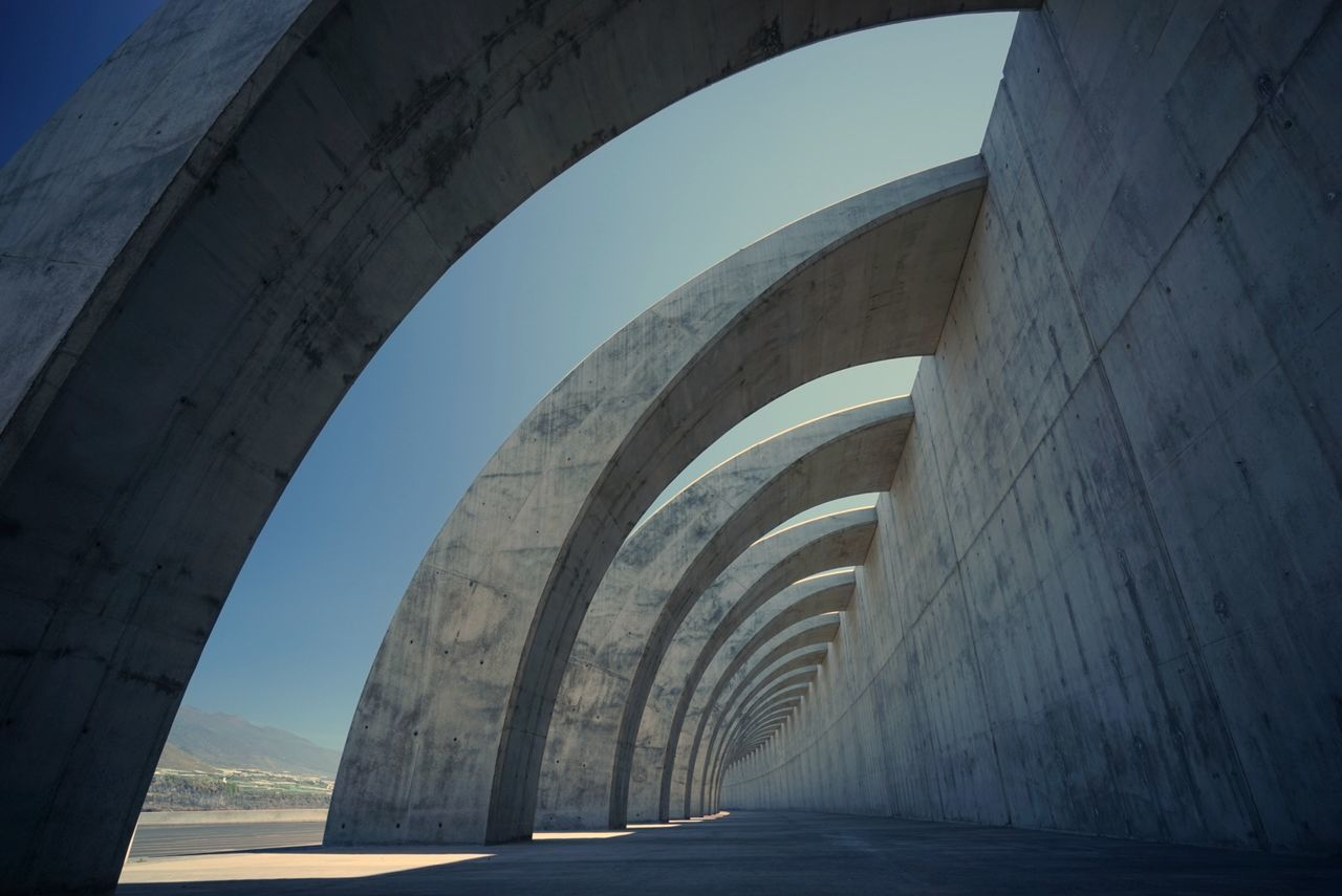 arch, built structure, history, the way forward, architecture, day, indoors, no people, sky