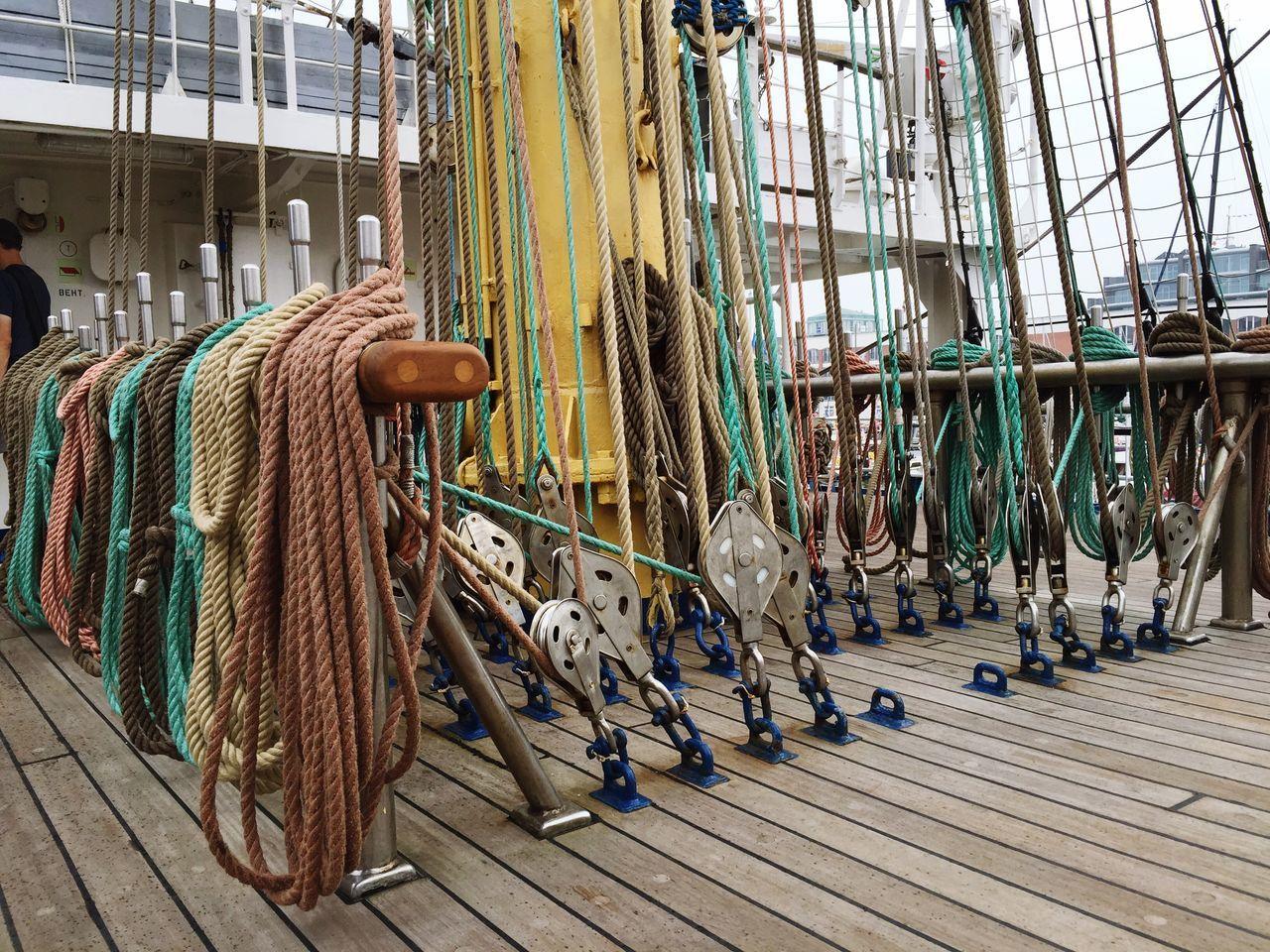 Ropes And Bollard In Sailboat