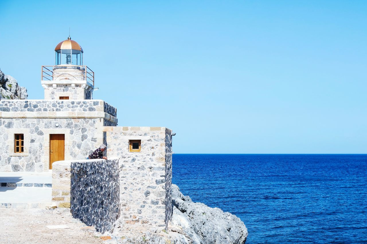 Beautiful stock photos of lighthouse,  Assistance,  Beauty In Nature,  Blue,  Building Exterior