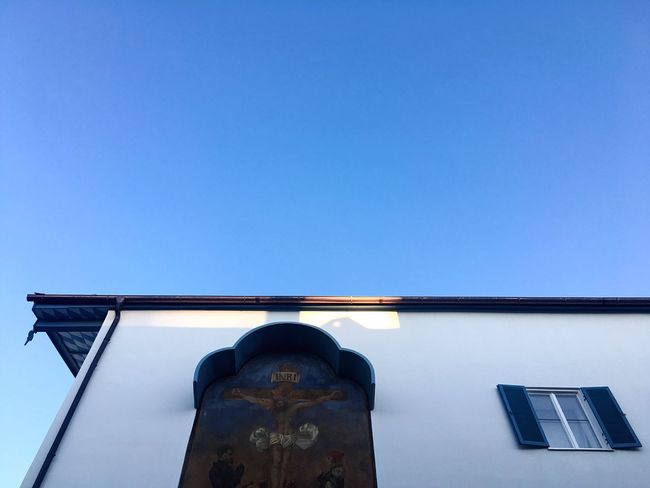Light And Shadow Morning Light Morning Architecture Low Angle View Bavarian Architecture Bavaria Built Structure Building Exterior Clear Sky No People Building Buildings Bad Tölz