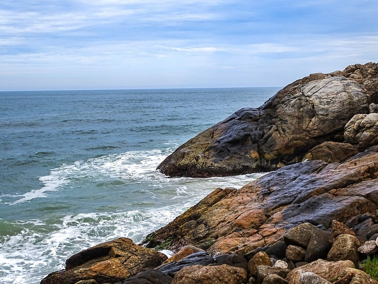 Sea Beach Scenics Awe Landscape Coastal Feature Nature Horizon Over Water Idyllic Rock - Object Sand Wave Outdoors Beauty In Nature No People Day Water Sky Morrodasaranhas Florianópolis Tranquil Scene Beauty In Nature Brazil
