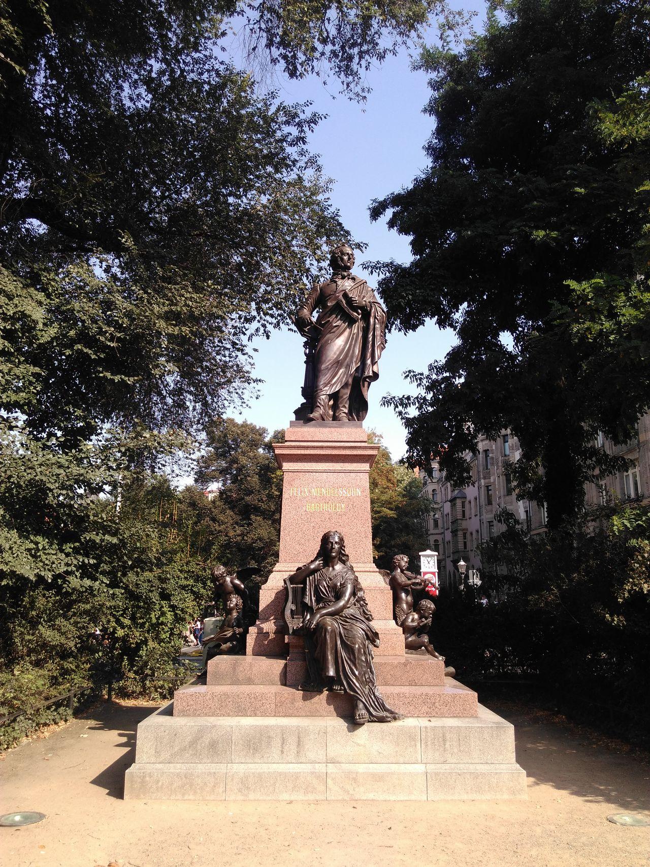Statue Sculpture Memorial Leipzig Sachsen Germany Felix Mendelssohn Bartholdy