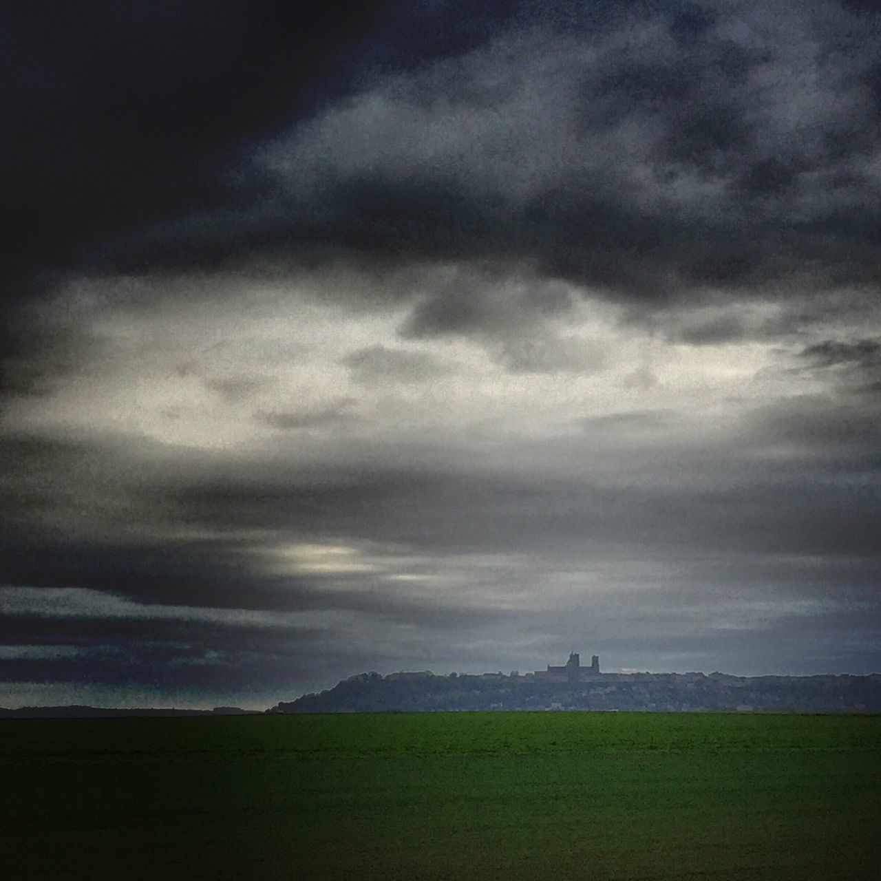 sky, cloud - sky, weather, storm cloud, no people, dramatic sky, nature, field, storm, landscape, travel destinations, outdoors, day, thunderstorm, scenics, beauty in nature, cityscape, architecture, grass, scenery, city