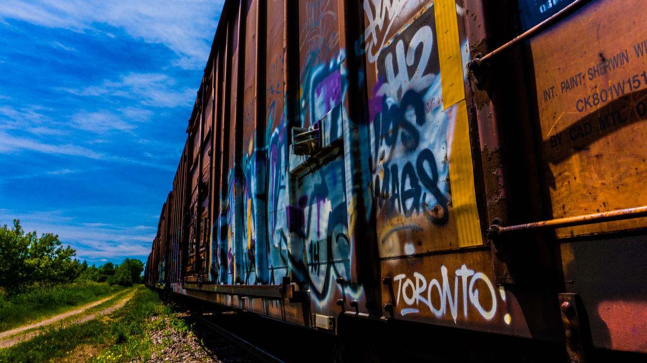 City Life Colorful Colors Graffiti Perfect Match Train Trains Traveling Toronto