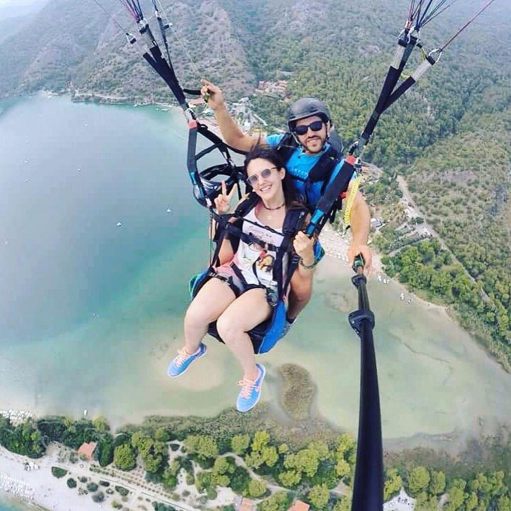 Paragliding Paragliding Tandem Paragliding Fethiyeölüdeniz Turkey Flying Beautiful Dream Adrenaline Peace