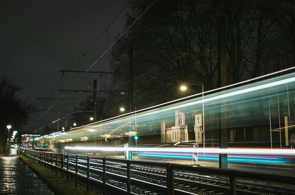 ~ 🚋🍃~ Night Illuminated Transportation Long Exposure Street Light Motion City No People Light Trail Built Structure Sky Connection Architecture Outdoors Getting Inspired Light And Shadow Canonphotography City Lights Road Streetphotography Cityscape Colorful Night Photography Capture The Moment Longexposure
