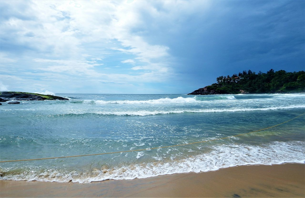 Kerala, India Travel Destinations Sea Water Beach Wave Outdoors Tide Rocks In Water No People Beauty In Nature Scenics Nature Sky Day