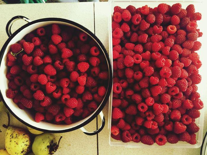 😌 Raspberries First Eyeem Photo Water Healthy Healthy Eating Fruits Fruit Red Raspberry