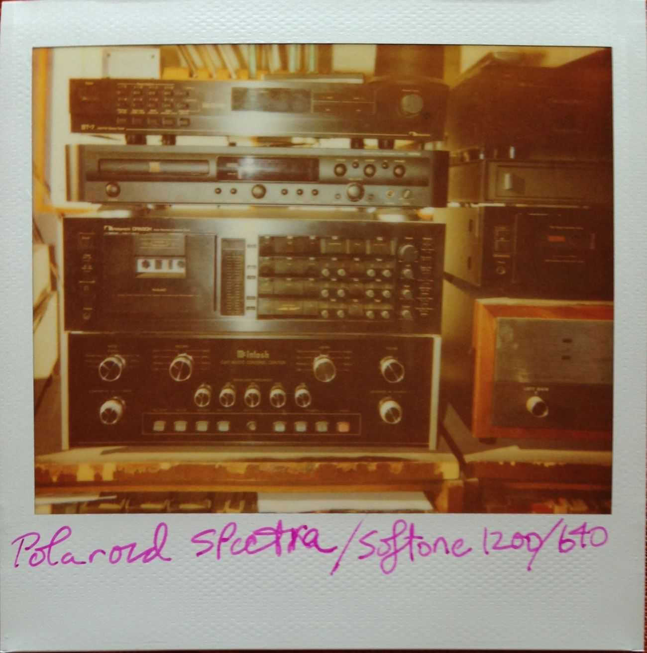 dad's stereo Polaroid Stereo Tape Deck Hifi