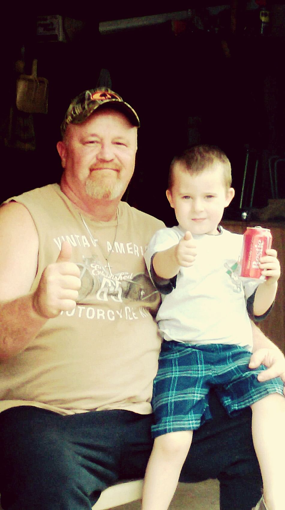 He picked out his bestie alright. Cocacola Coca-cola Shareacoke Cheese! Hanging Out Besties Drinking Coke Buddies Best Friends Grandpa Grandson Grandparent Thumbs Up Summer Cool Kids Kids Being Kids Kids Having Fun Boys Five Years Old