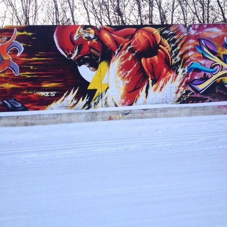 Graffiti Marvel Comics Russia Street Art