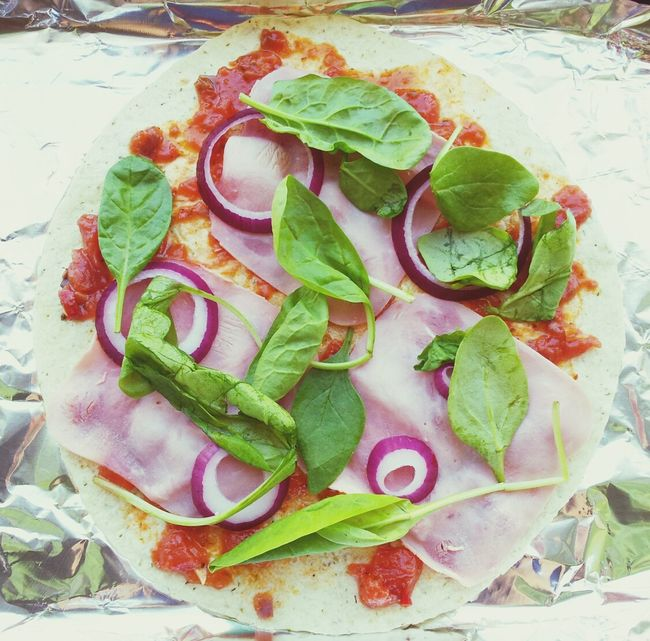 Tortilla Pizza Lunch Healthy Food Cooking