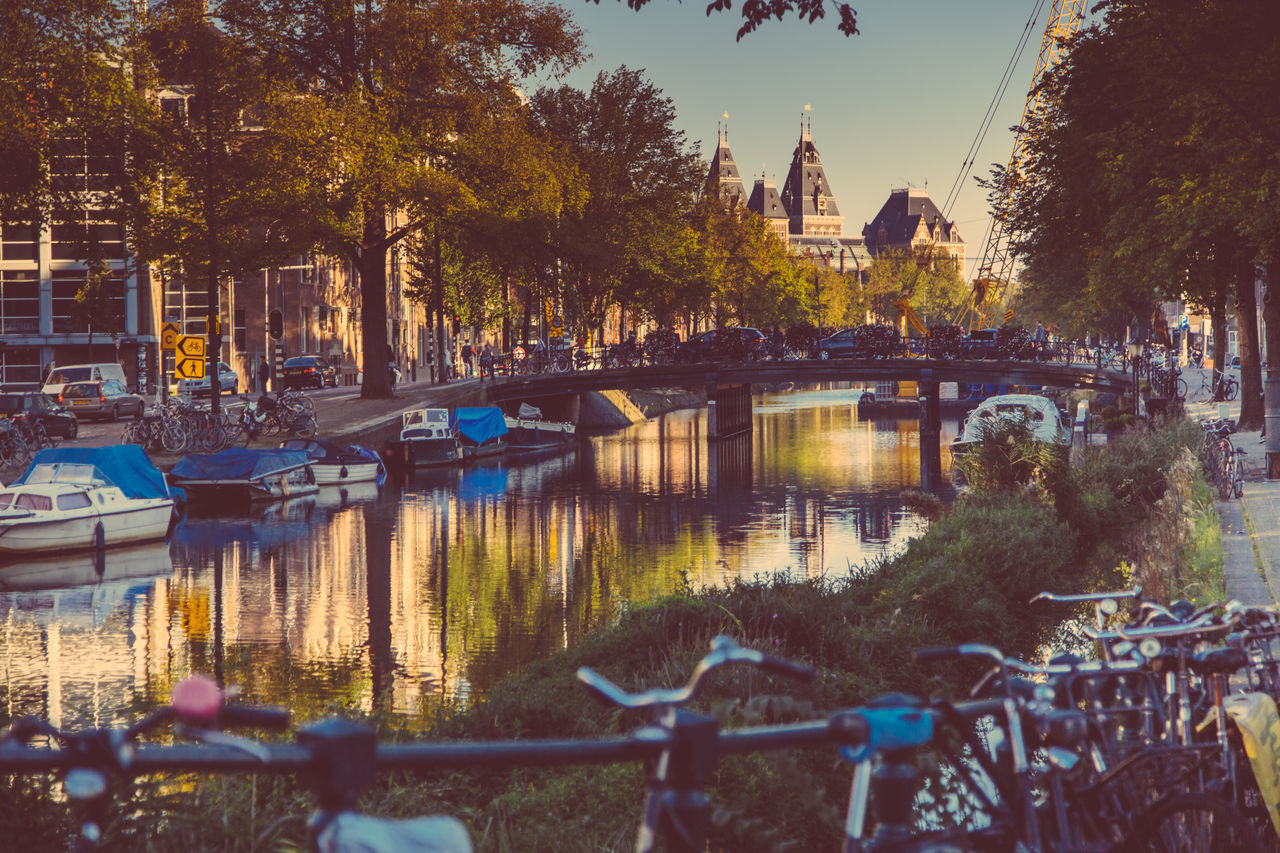 Beautiful stock photos of amsterdam, Architecture, Bicycle, Boat, Bridge - Man Made Structure