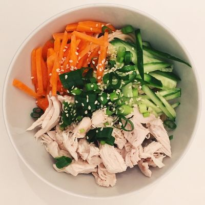 Noodles Dinner Carrots Cucumber
