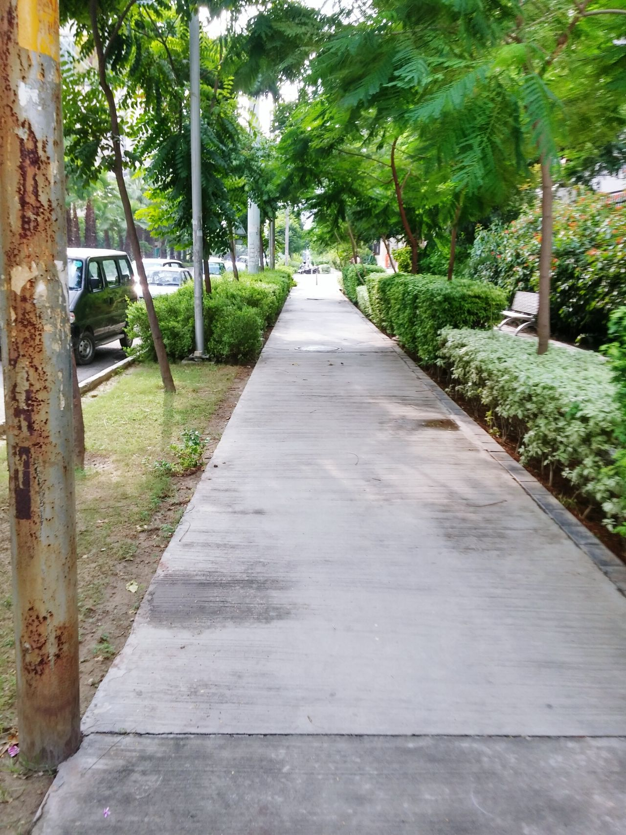 Roadside Walkway City India Ghaziabad