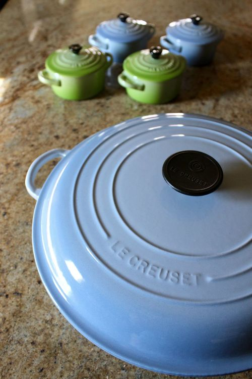 Blue Cast Iron Cocotte Colorful Cooking Cooking At Home Cookware Cookware With Colour French Green Le Creuset Ramekins Stoneware