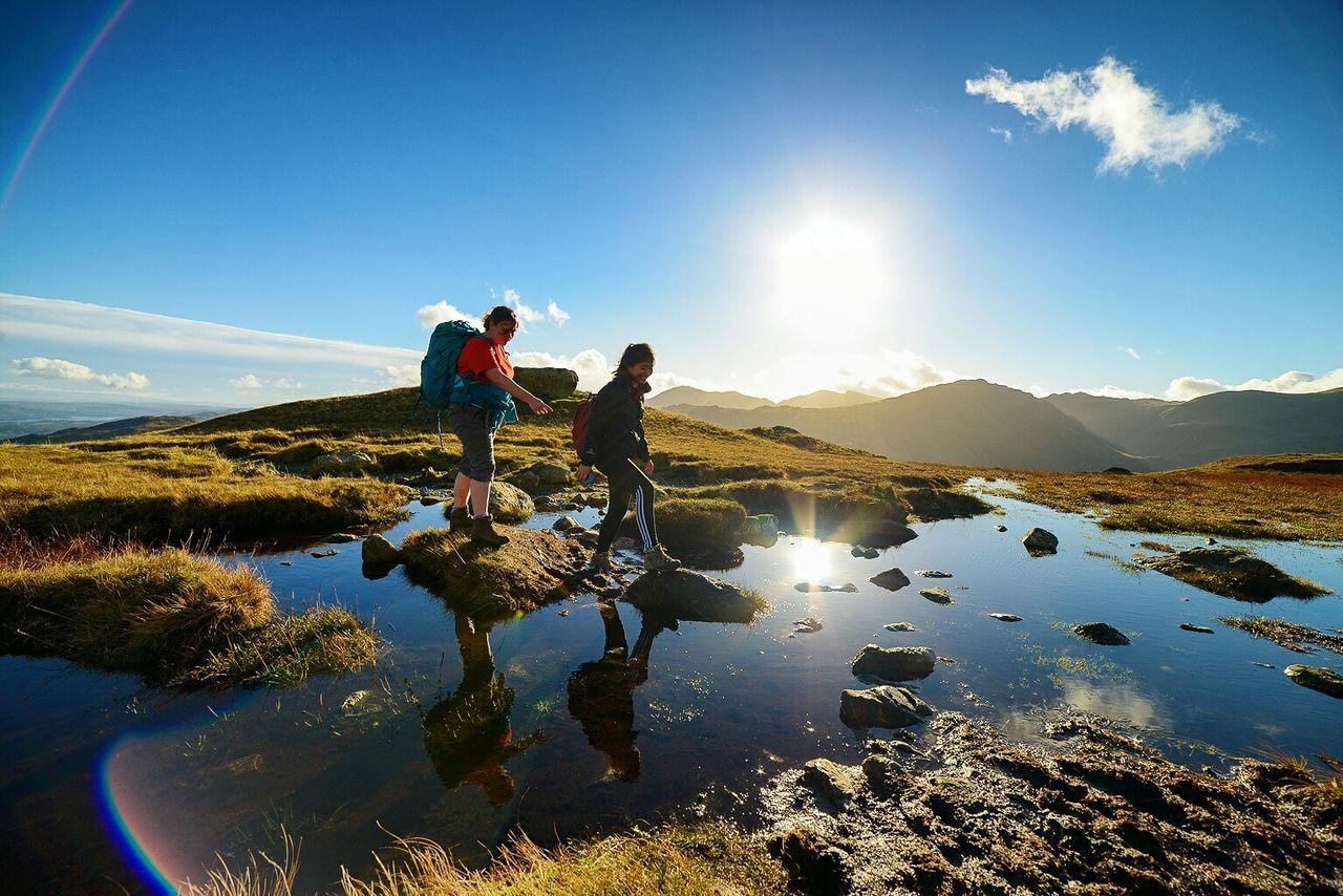Beautiful stock photos of camping, reflection, water, full length, sun