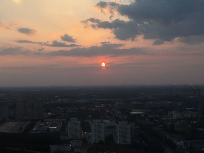 Sunset Airplane Sun City Sky Cityscape Architecture Dark Outdoors Scenics Beauty In Nature Cloud Nature Majestic Cloud - Sky Tranquility Tranquil Scene No People Moody Sky Aerial View Horizon