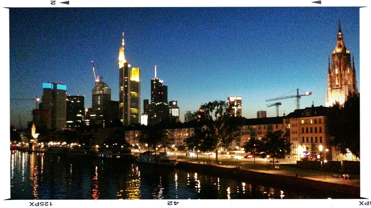 Mainhatten by Night Night Lights Nightphotography Frankfurt Skyline