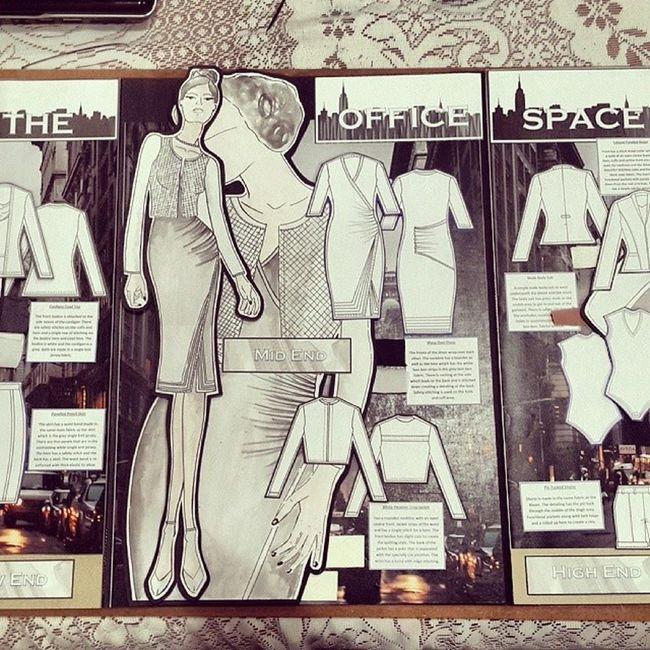 Fashion Story Board- Career Wear: high end, mid end and low end TDS Fashion Illustrated Careerwear serrmongil fashiondesigner presentation workinghard proudstudentOFDutSA models designer lsm