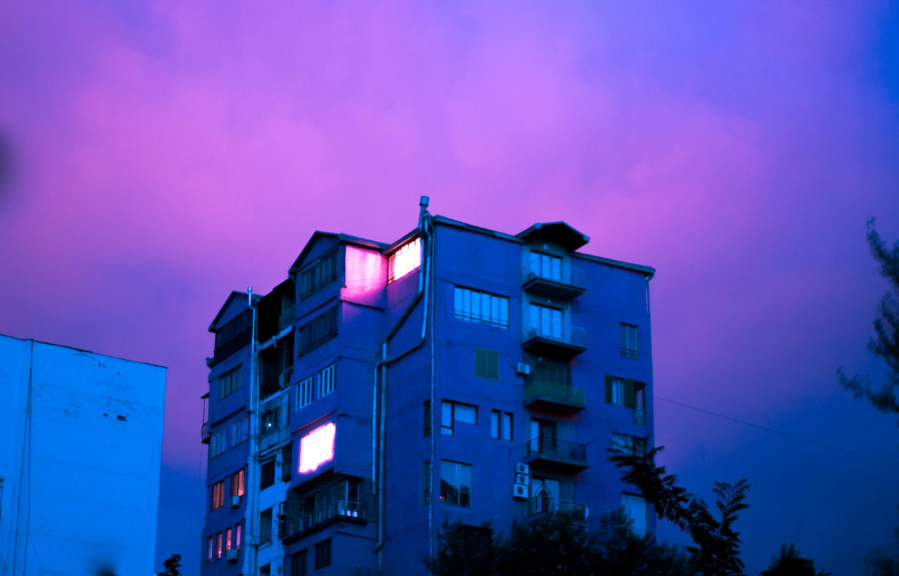 Architecture Blue Sky Building Building Exterior Built Structure Canon_official Canon_photos City Colorful Colors Colour Of Life Contemporary Contemporary Art Illuminated Low Angle View Modern New Life Night Nightphotography Nightshot No People Outdoors Reflection Saddness Sky