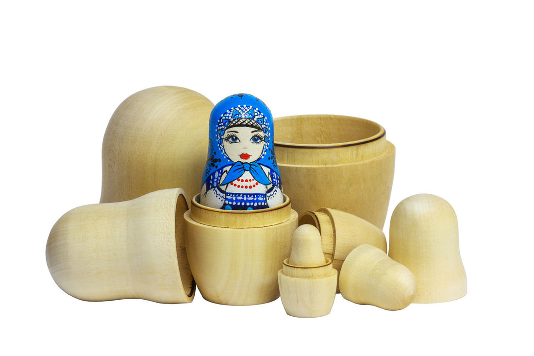 Matryoshka Traditional Russian and blanks for painting dolls. Clean matryoshka. Blue Close-up DIY Doll Folk Art  Folk Craft Folklore Homemade Isolate Isolated Matryoshka Nested Doll Nesting Dolls No People Painting Dolls Russia Russian Dolls Souvenir White White Background