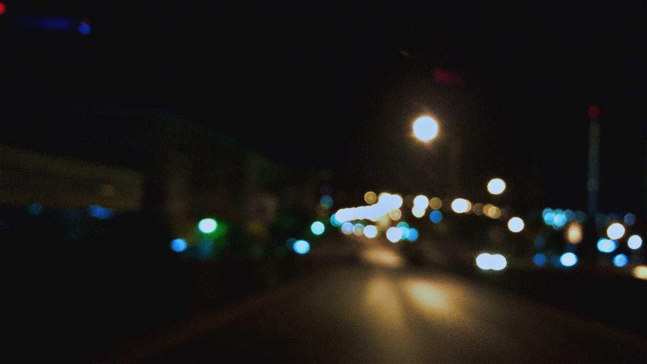 illuminated, night, glowing, lighting equipment, road, defocused, no people, street light, land vehicle, outdoors, city, close-up