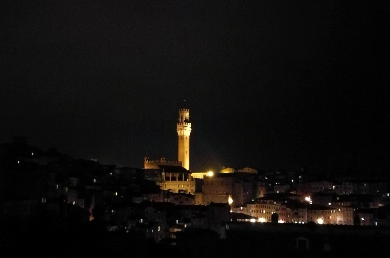 Night City Illuminated Architecture Clock Tower Tower Sky Siena Medieval Tuscany Ancient Piazza Del Campo Landscape Photooftheday Landscape_Collection